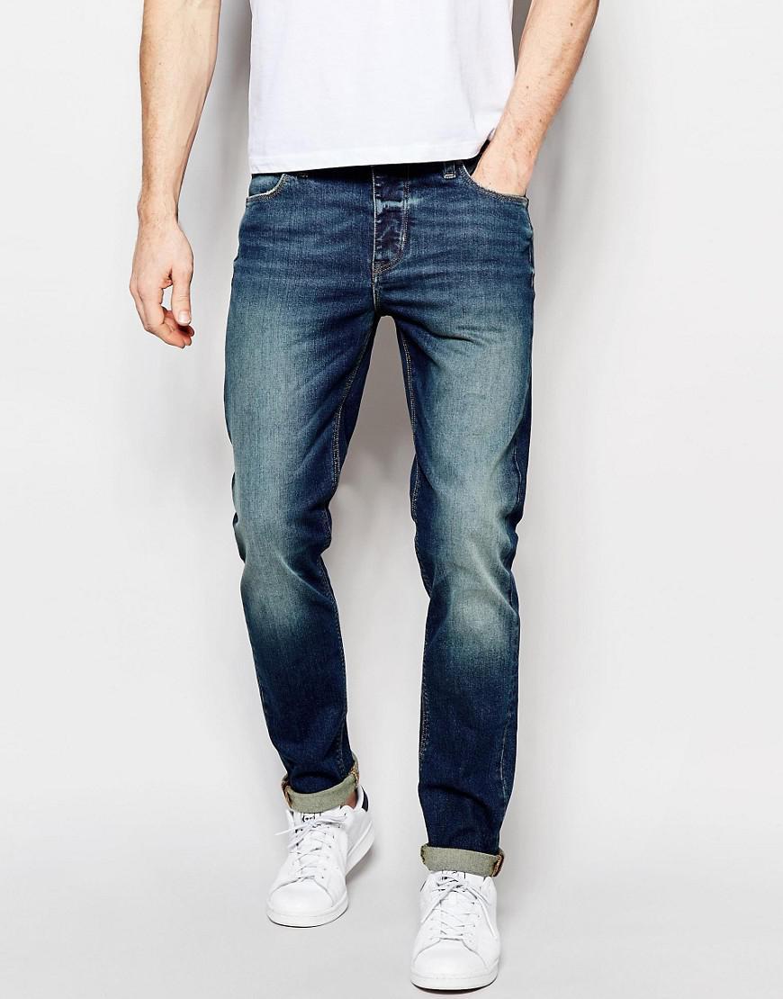 ASOS. Men's Skinny Jeans In 12.5oz Tinted Blue