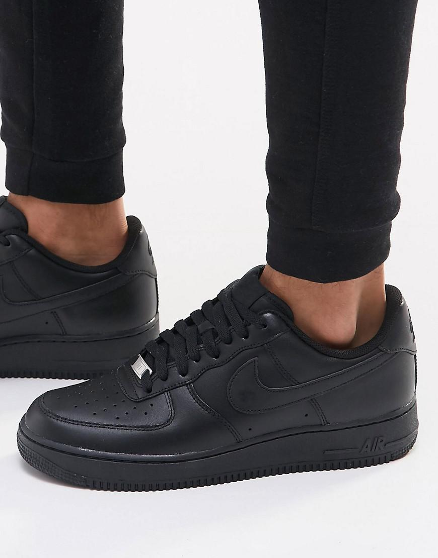 Air Force 1 07 Trainers In Black 315122-001 - Black Nike