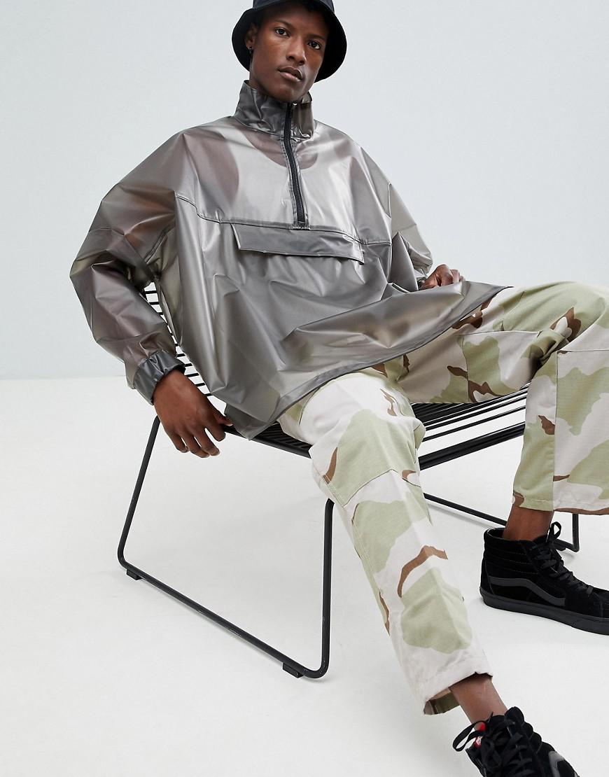 ASOS Oversized Windbreaker In Transparent Grey in Gray for Men - Lyst 8a47aa2a6
