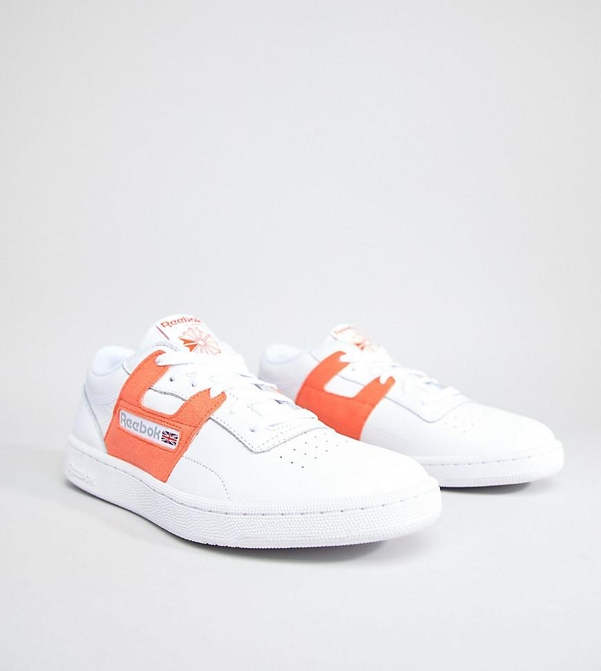 8545827656 Reebok  leisure Pack  Club Workout Sneakers In White Exclusive To ...