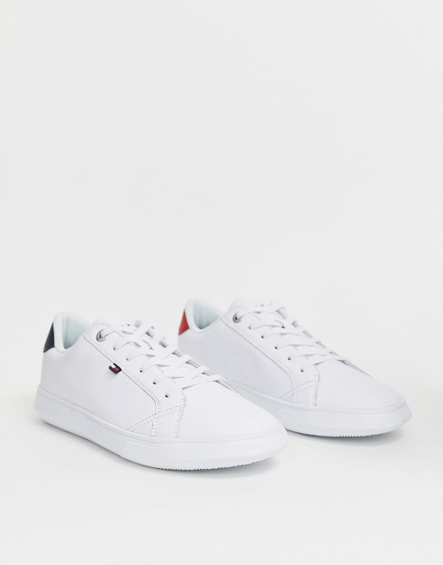 5a686a89 Tommy Hilfiger Essential Leather Icon Logo Sneaker In White in White ...
