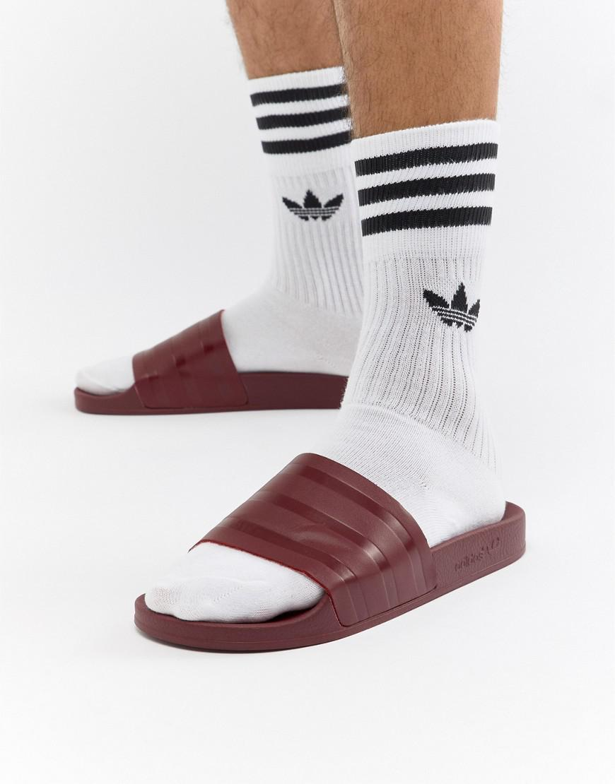 2c91b33823a80a Lyst - adidas Originals Adilette Sliders In Red Cq3095 in Pink for Men
