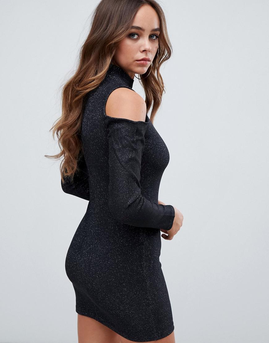 a45f88d39b Lyst - AX Paris Open Shoulder Bodycon Dress in Black