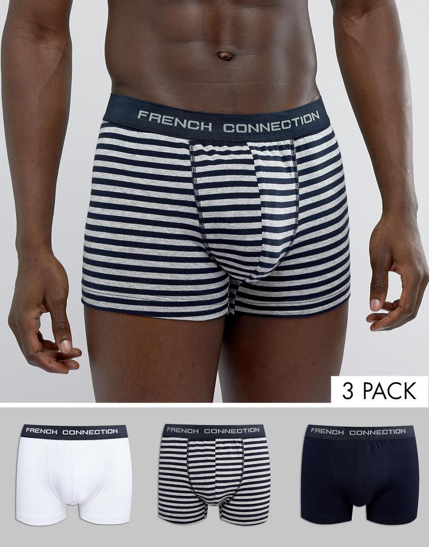 f9f173d366e French Connection Fcuk 3 Pack Boxers in Blue for Men - Lyst