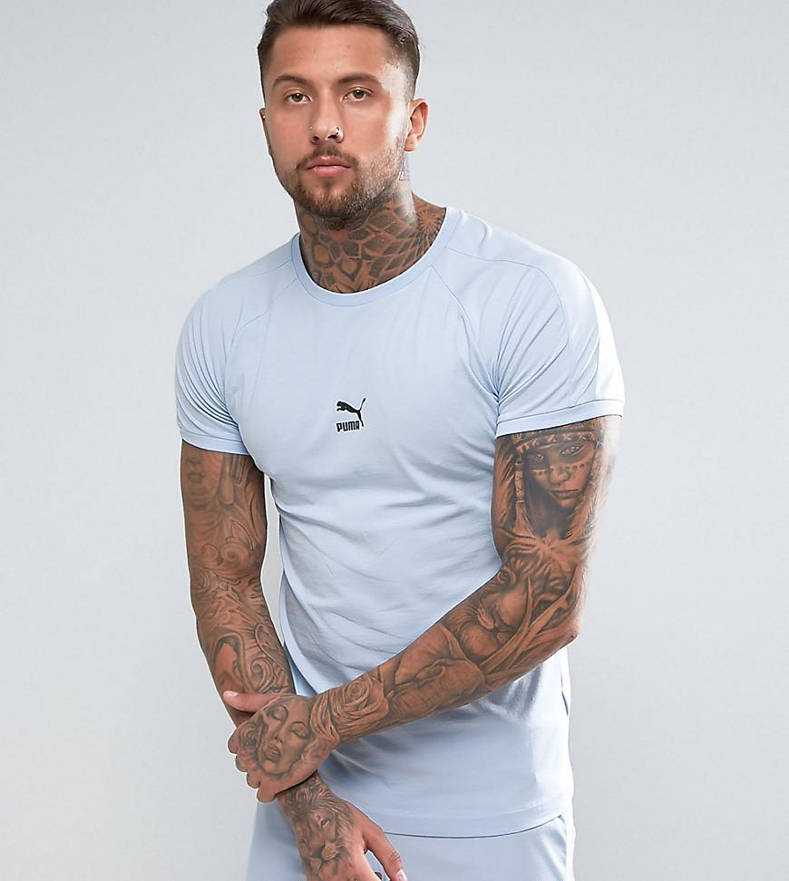 Puma Muscle Fit T-shirt In Blue Exclusive To Asos in Blue for Men - Lyst a14db2de3