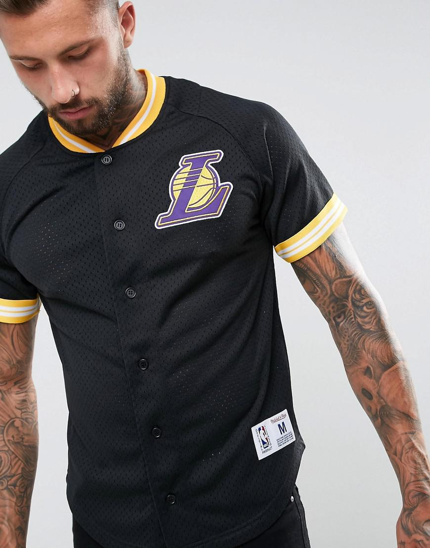 90c1cdb1 Mitchell & Ness Nba L.a Lakers Mesh T-shirt in Black for Men - Lyst