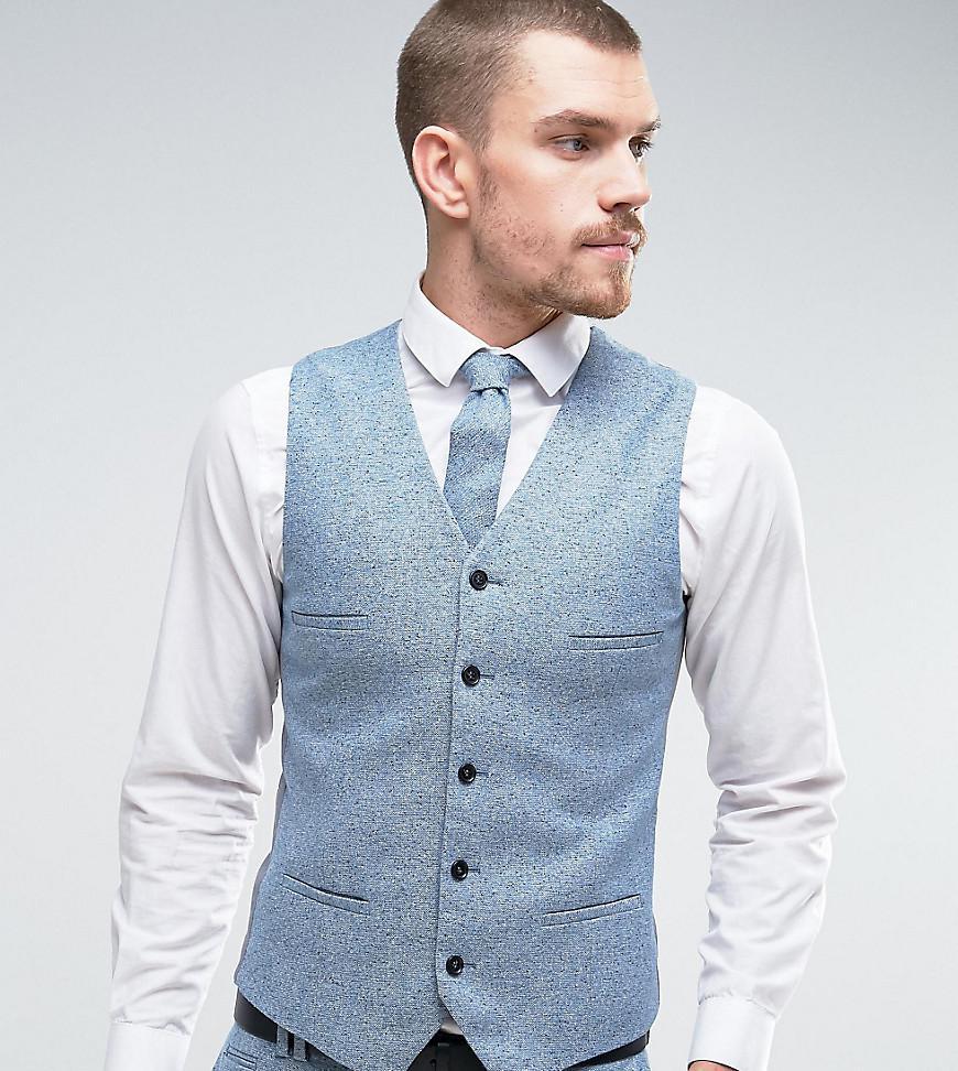 Skinny Waistcoat in Fleck - Black Noak Sexy Sport V5J54