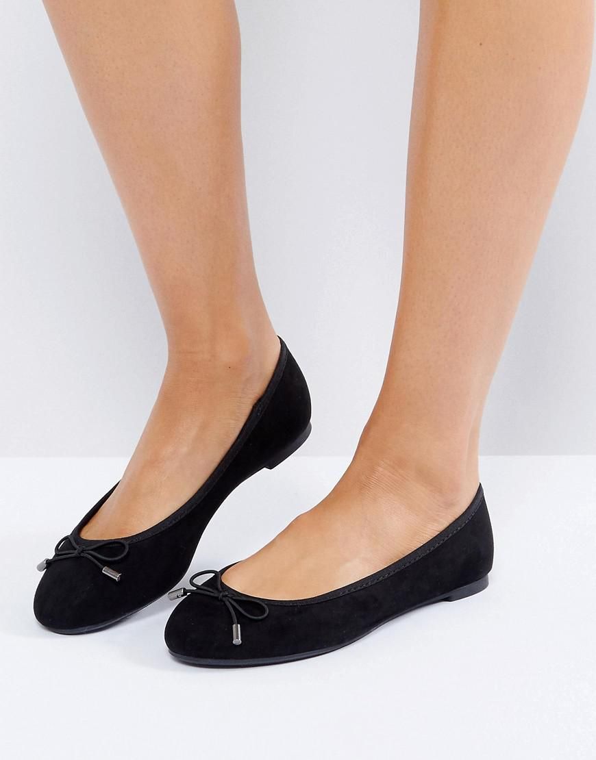 Suedette Bow Ballet Pump - Black New Look EPPBZB2I0