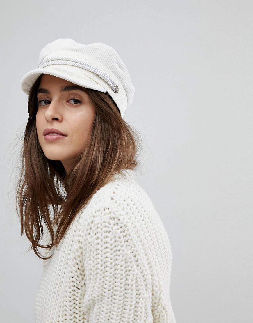 bc5cd22928ed3 ... low price cheapest brixton baker boy hat in white cord in white lyst  6c2cd 6921b d1dc6