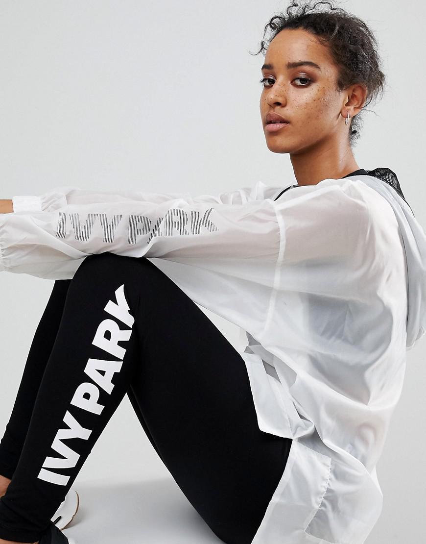 Lyst Ivy Park Translucent Windbreaker Jacket In Black