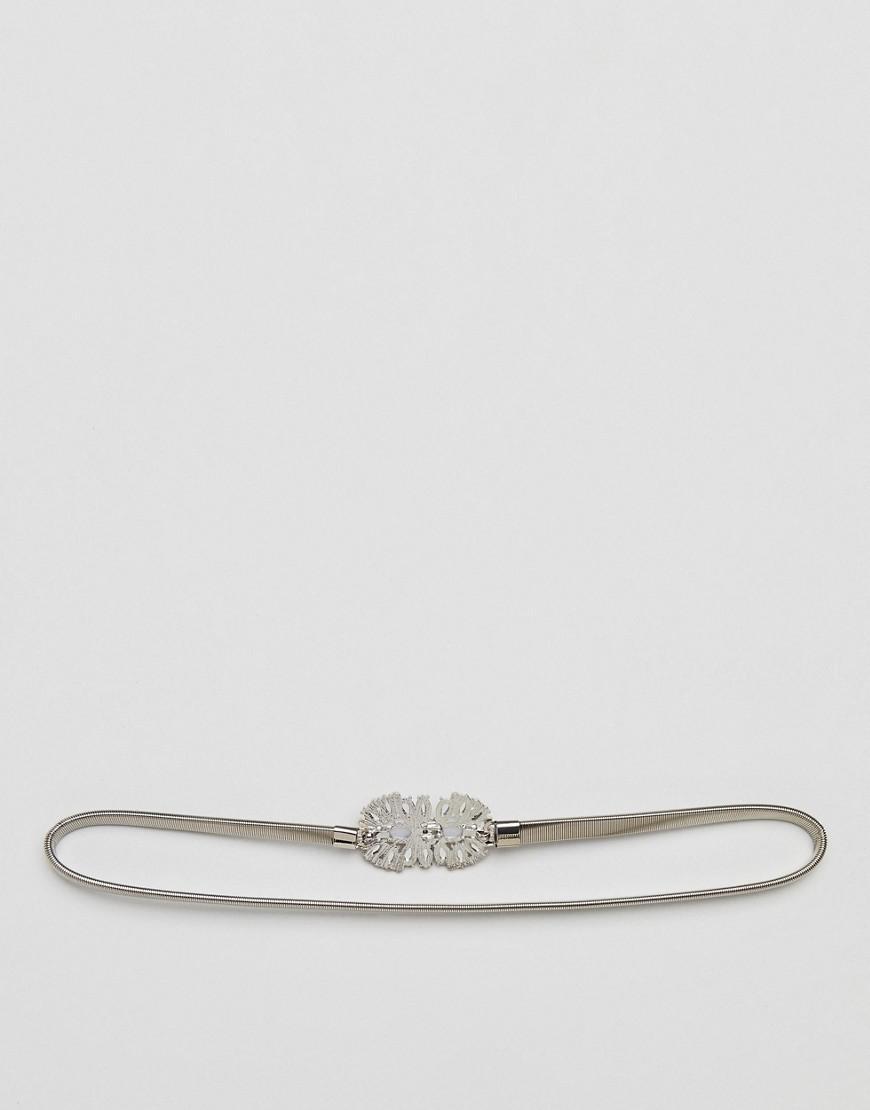 Silver Diamante Belt - Silver True Decadence 8SUKQ