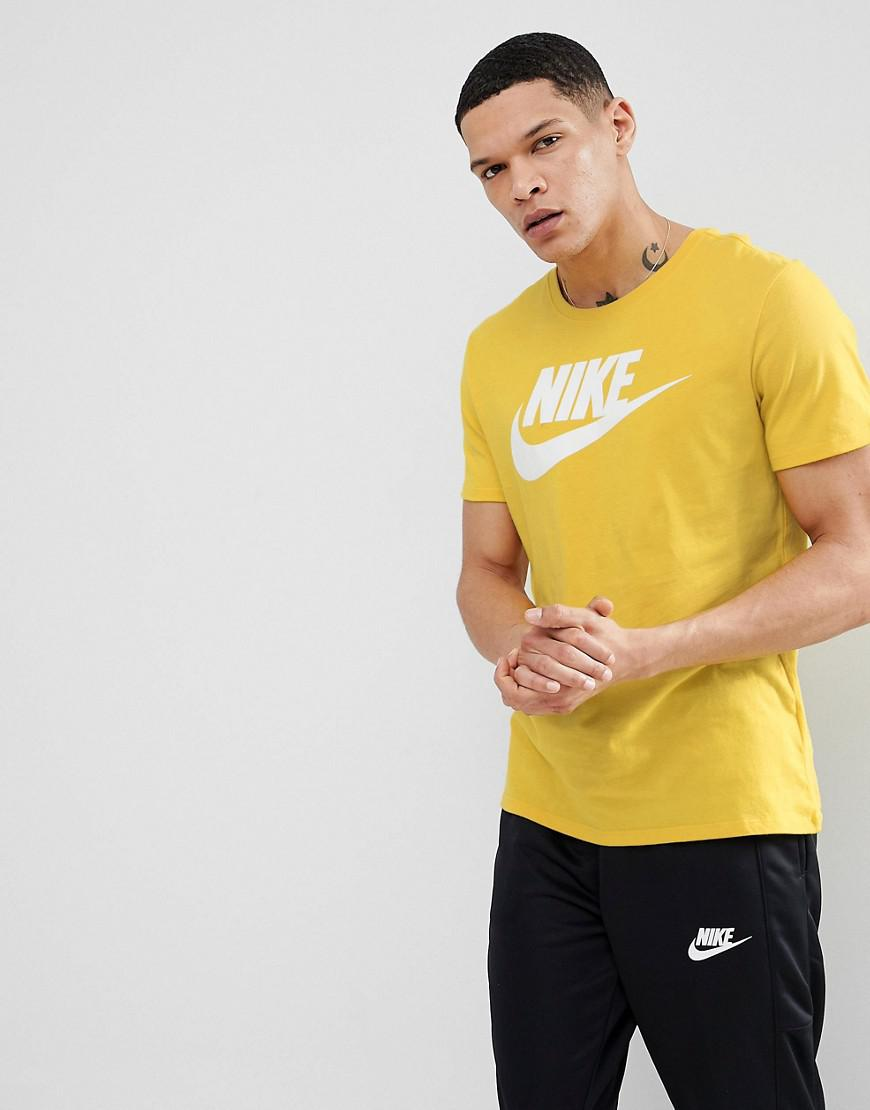 3be93f276ad9 Nike Futura Logo T-shirt In Yellow 696707-713 in Yellow for Men - Lyst