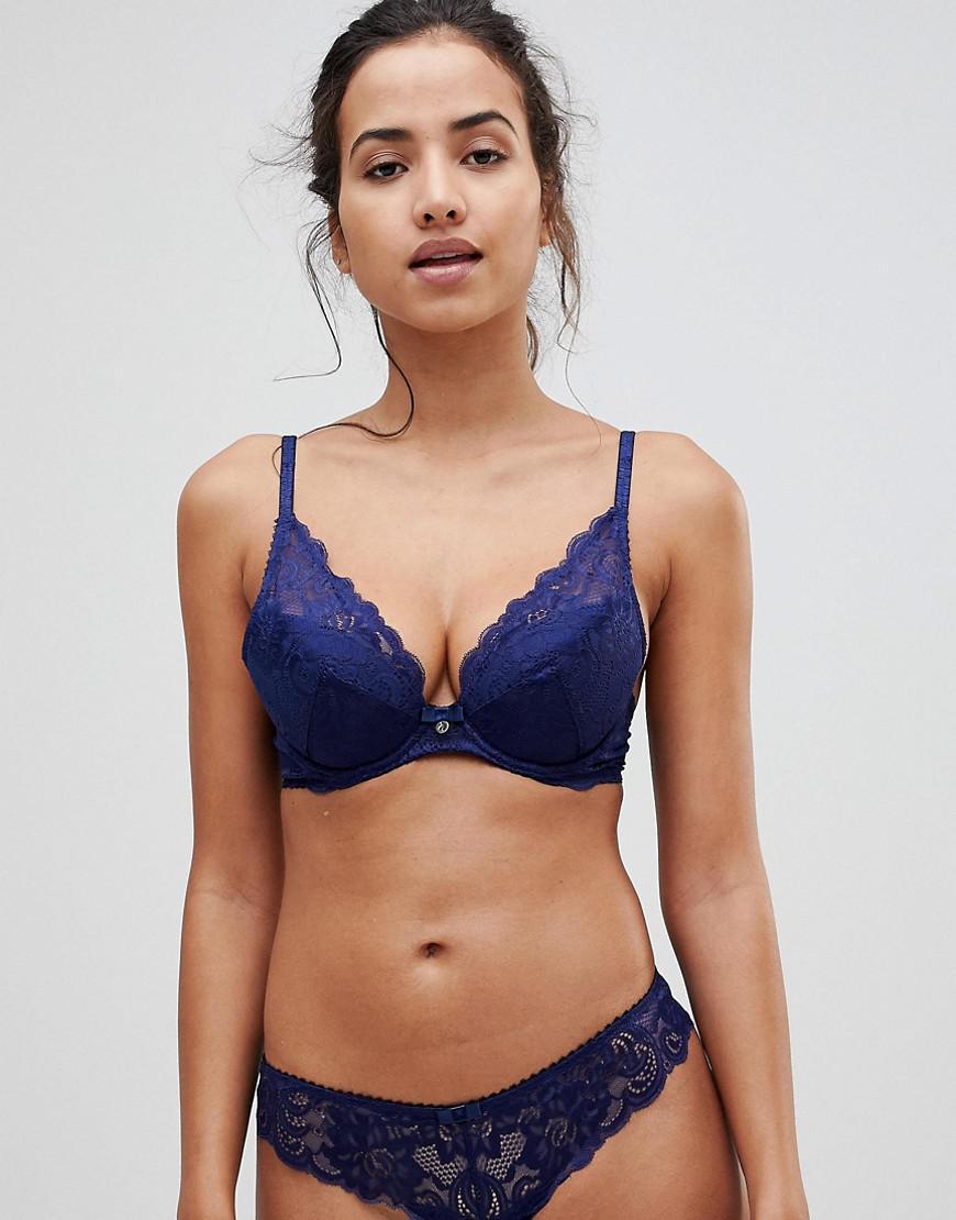 d9550195b5 Lyst - Gossard Lace High Apex Bra in Blue
