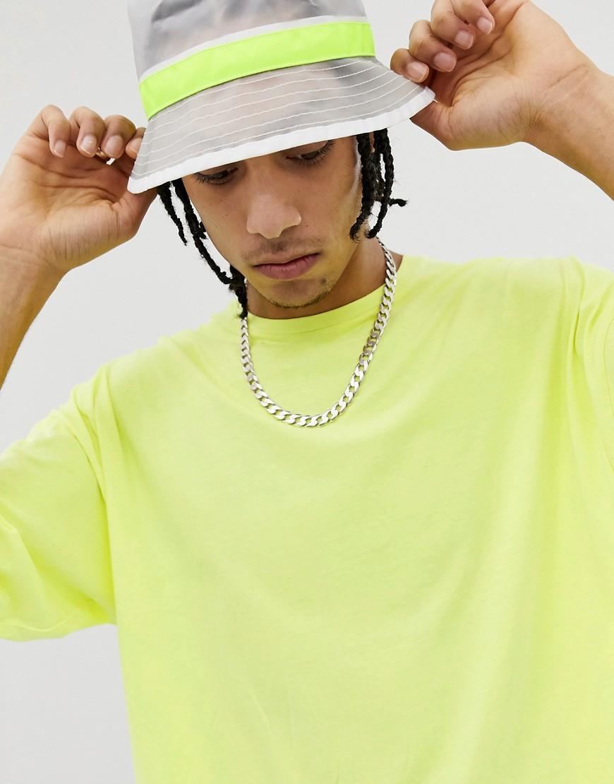 d48c210518fc1 T-shirt oversize à manches mi-longues - Jaune fluo délavé ASOS pour ...