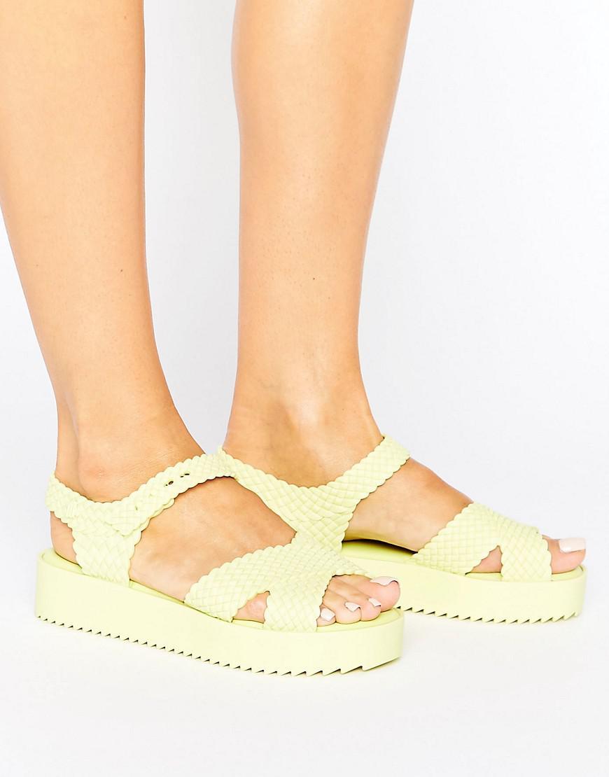 24cff3458d Melissa Salinas Hotness Sandals in Yellow - Lyst