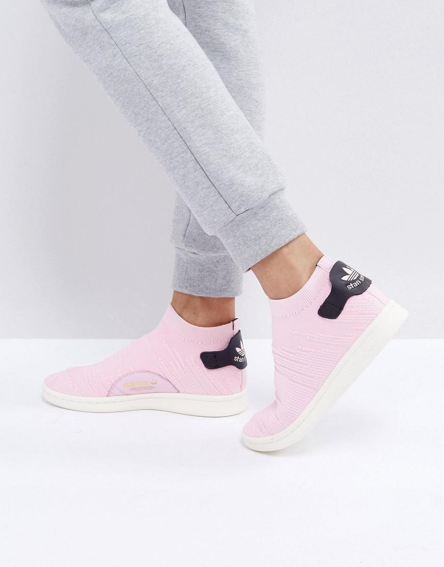 22feea8dd8a Adidas Originals Originals Pink Stan Smith Primeknit Sock Sneakers ...