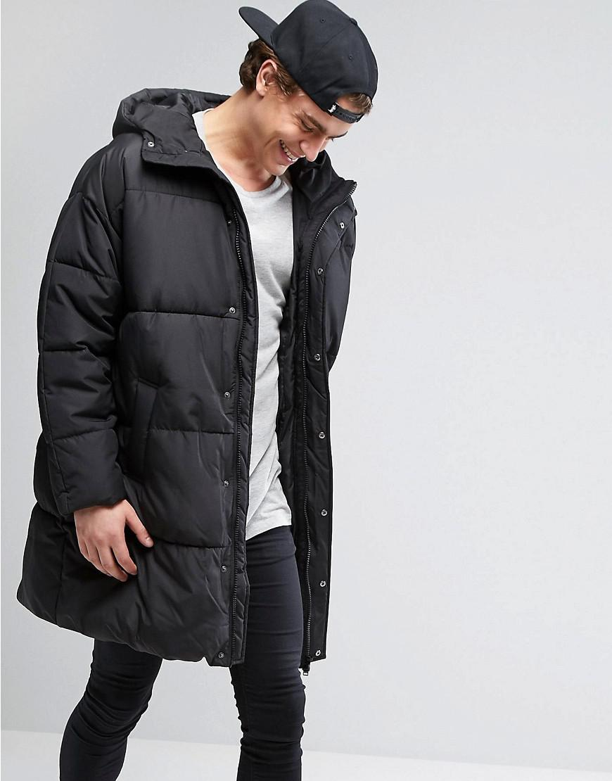 Lyst Asos Puffer Jacket In Oversized Fit With Hood In
