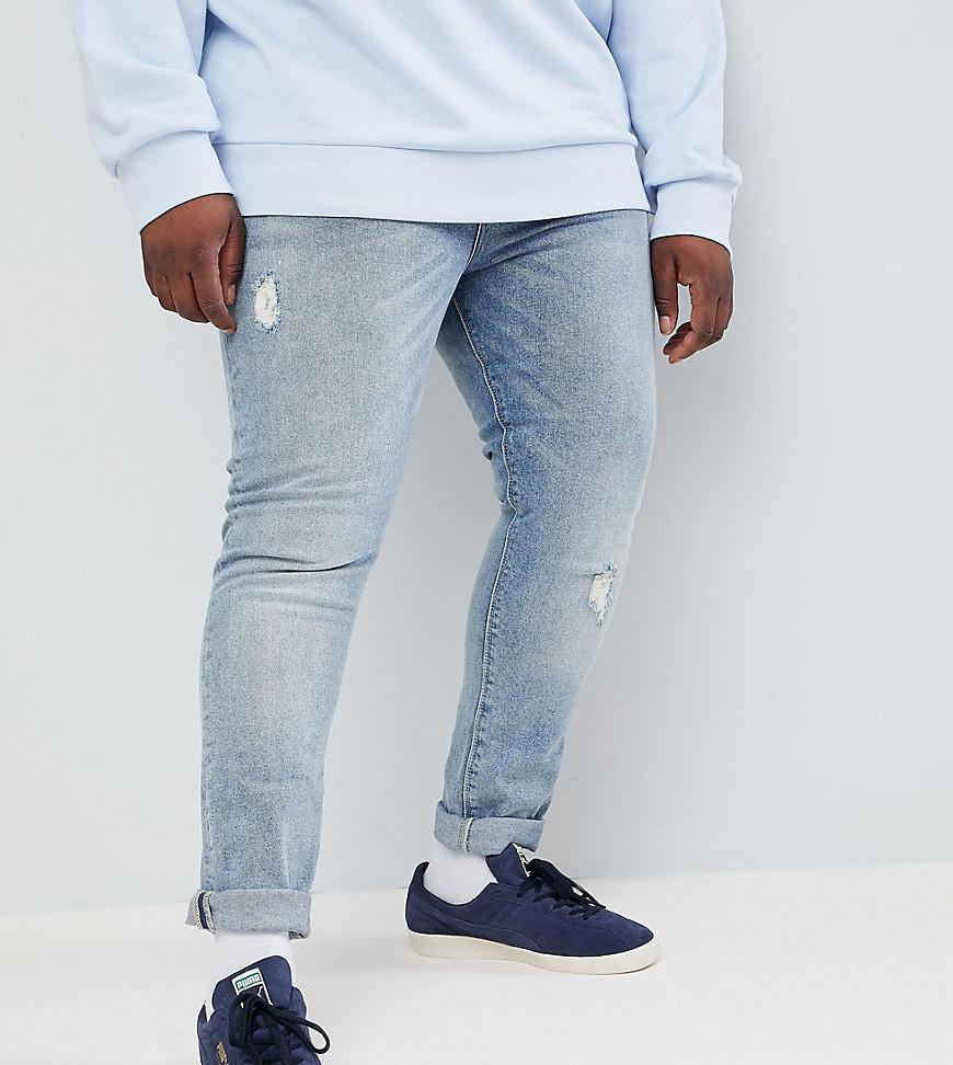 La Conception Des Jeans Super Skinny En Bleu Clair Avec Lavage Abrasions - Lavage Lumière Asos Bleu hEZusAq9ol