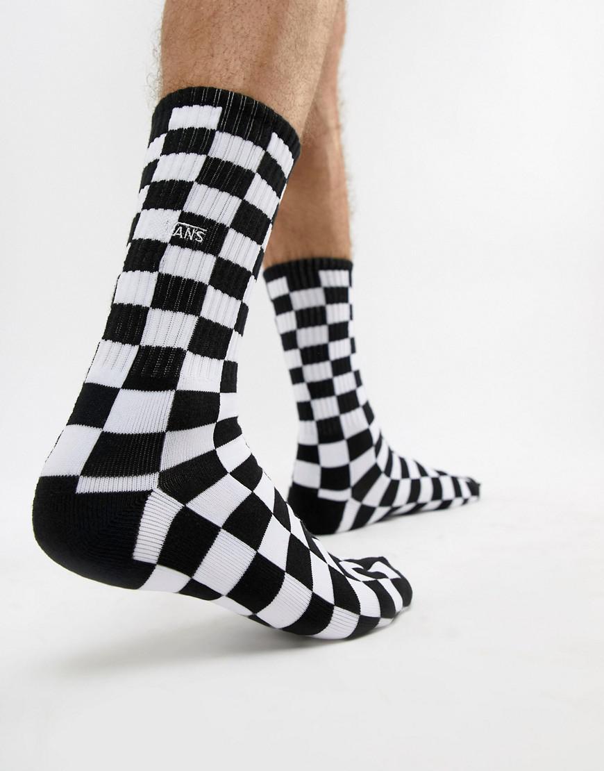 3f2295c472e876 Vans Checkerboard 1 Pack Socks In Black Vn0a3h3ohu01 in Black for ...