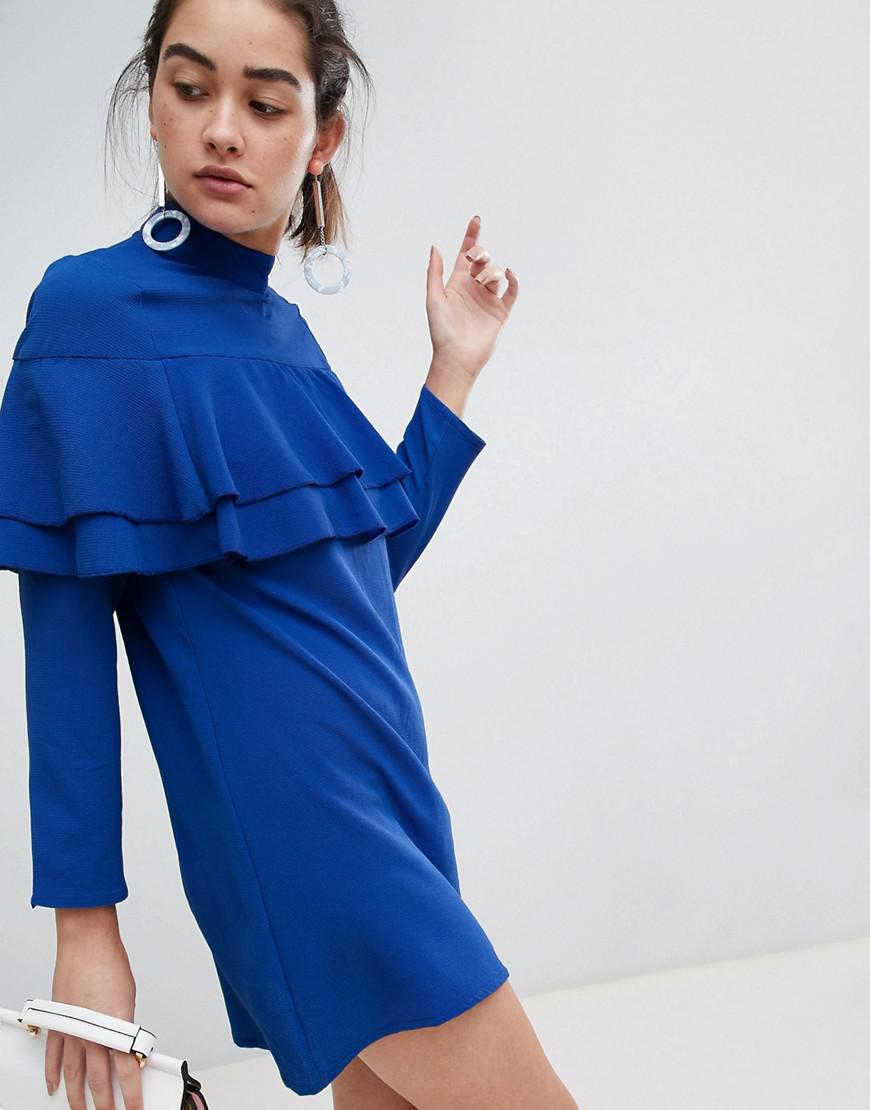 9b498ced46 Lyst - Madam Rage Double Frill Layer Dress in Blue