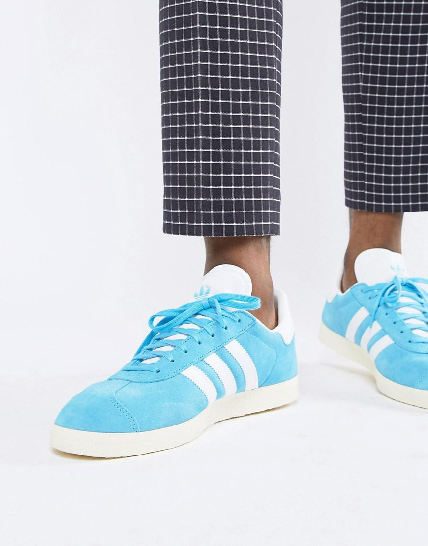 12031ab0ab3e51 Lyst - adidas Originals Gazelle Suede Sneakers In Blue B37945 in ...