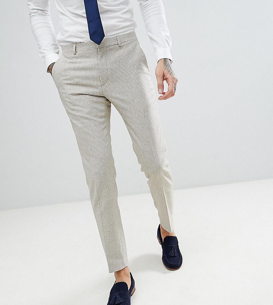 skinny wedding suit trouser in summer dogstooth - Blue Heart & Dagger 4O1aU