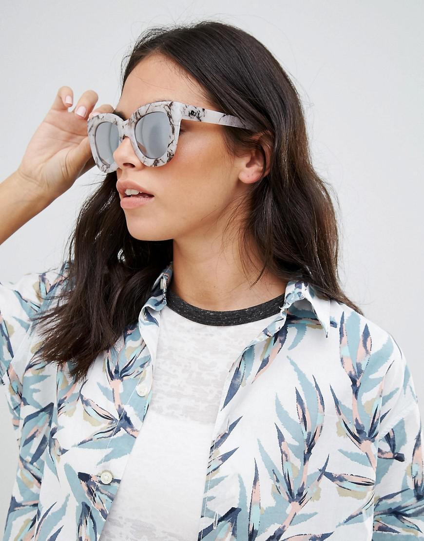 1f146f9674b Lyst - Quay Sugar And Spice White Marble Sunglasses in White