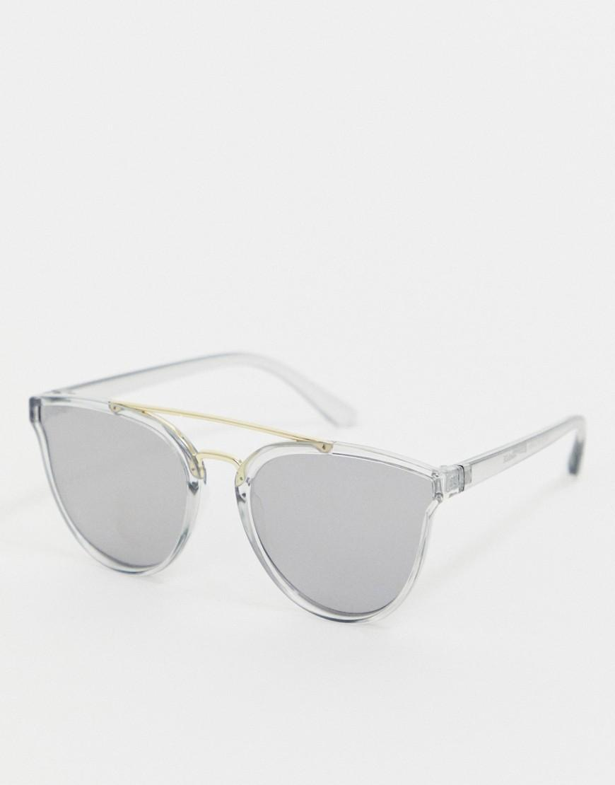 2b9c8fe7a0 Reclaimed (vintage). Men s Inspired Round Double Brow Sunglasses In Black  Exclusive To Asos