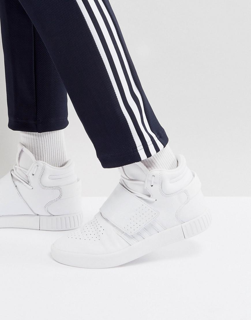 release date e68a5 0d7cc adidas Originals Tubular Invader Strap Unisex Sneakers In White in ...