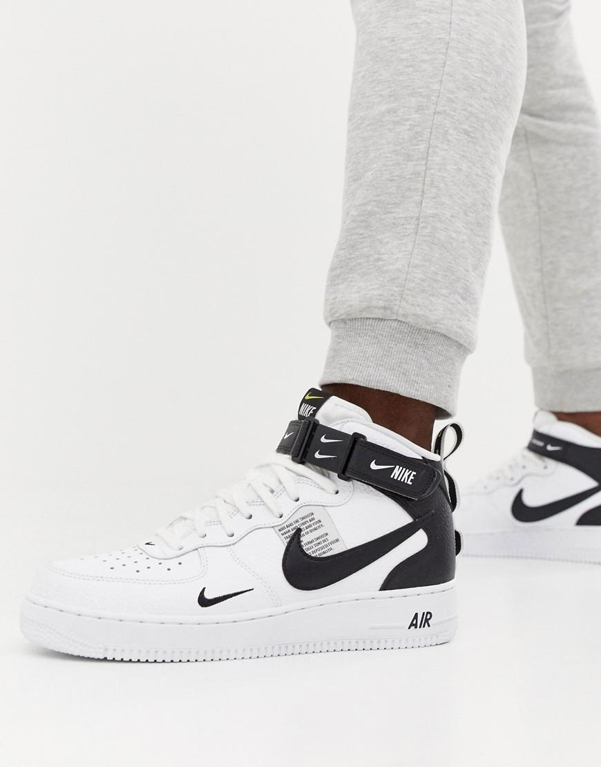 new concept 7f3f0 f8cc6 Nike Air Force 1 Mid  07 Sneakers In White 804609-103 in White for ...