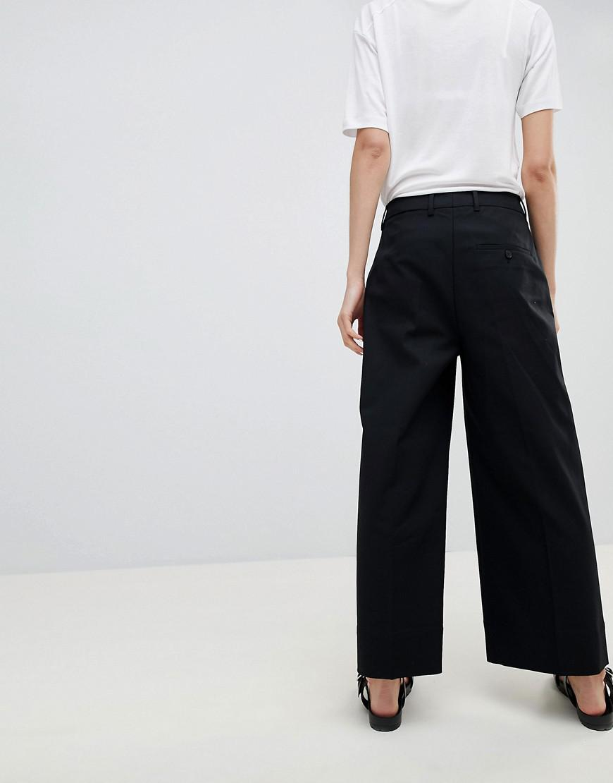 Leg In Femme Black Selected Wide Lyst Cropped Pants orCxdBeW