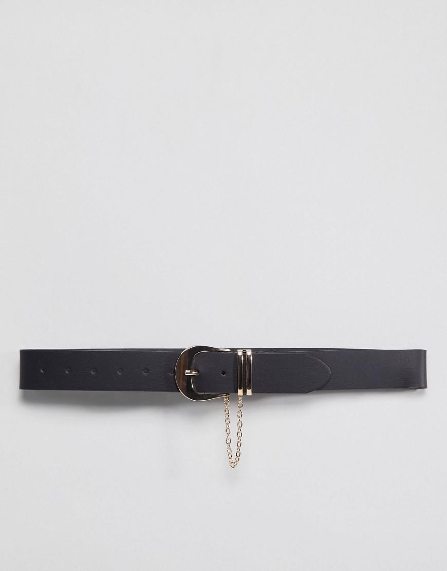 Lyst - Ceinture pour jean avec dtail chane Asos en coloris Noir 0626ff69bea