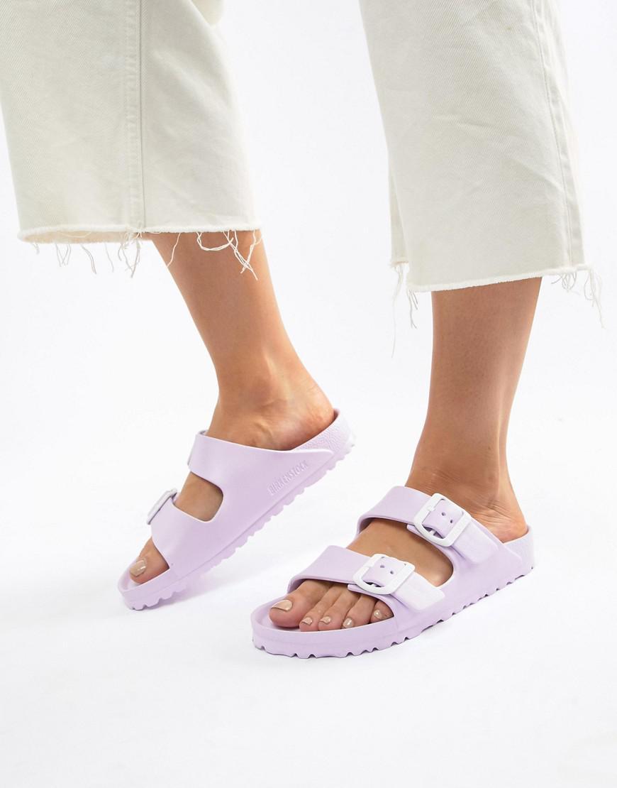aac084dc3b4 Birkenstock Arizona Eva Lilac Flat Sandals in Purple - Lyst