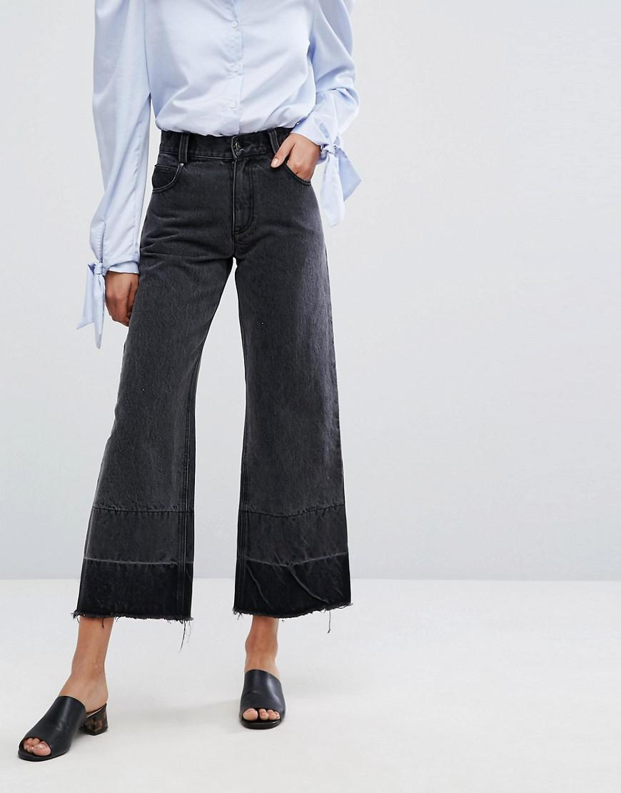 Wide Leg Jean with Raw Hem - Blacktop Evidnt Pictures Cheap Visa Payment Popular Online With Paypal Online MQKYL6pTh
