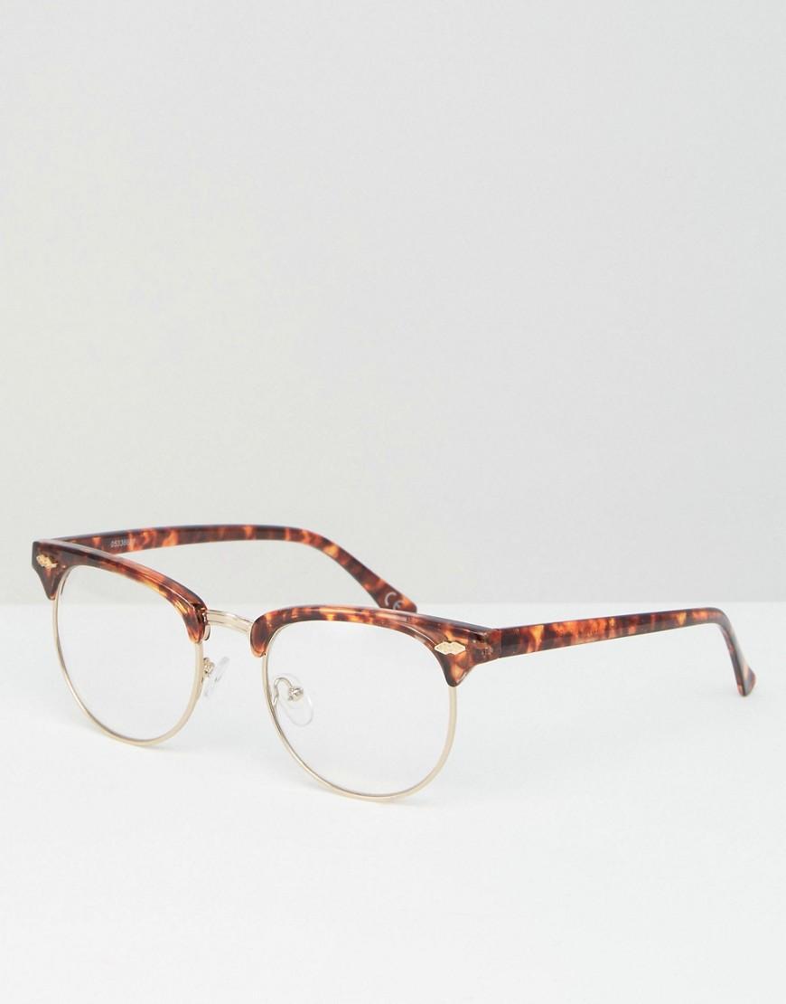 17d15d5994 Gafas transparentes de estilo retro con montura de carey de ASOS de ...