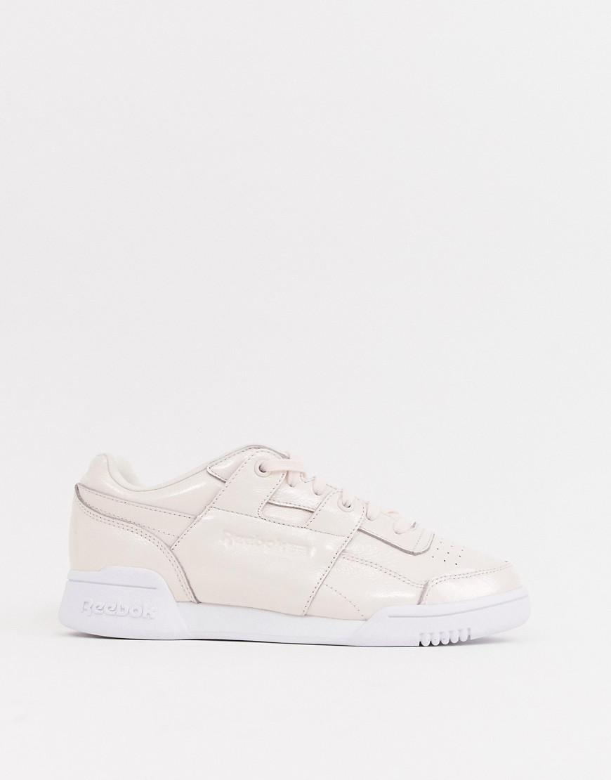 3ee094732c6 Reebok Classic Workout Lo Plus Iridescent Trainers in Pink - Lyst