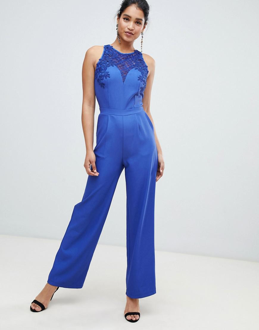 6f688adc596 Lyst - Little Mistress Little Mistess Tailored Jumpsuit With Belt in ...