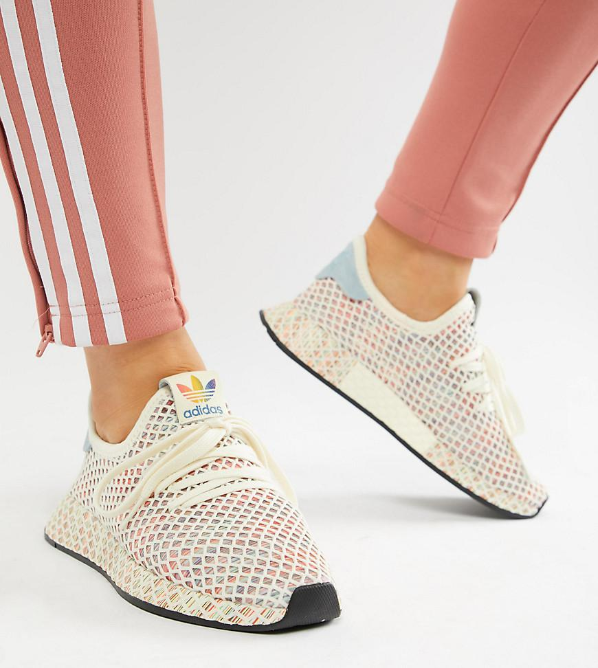 adidas Originals Pride Deerupt Trainers In Rainbow Mesh