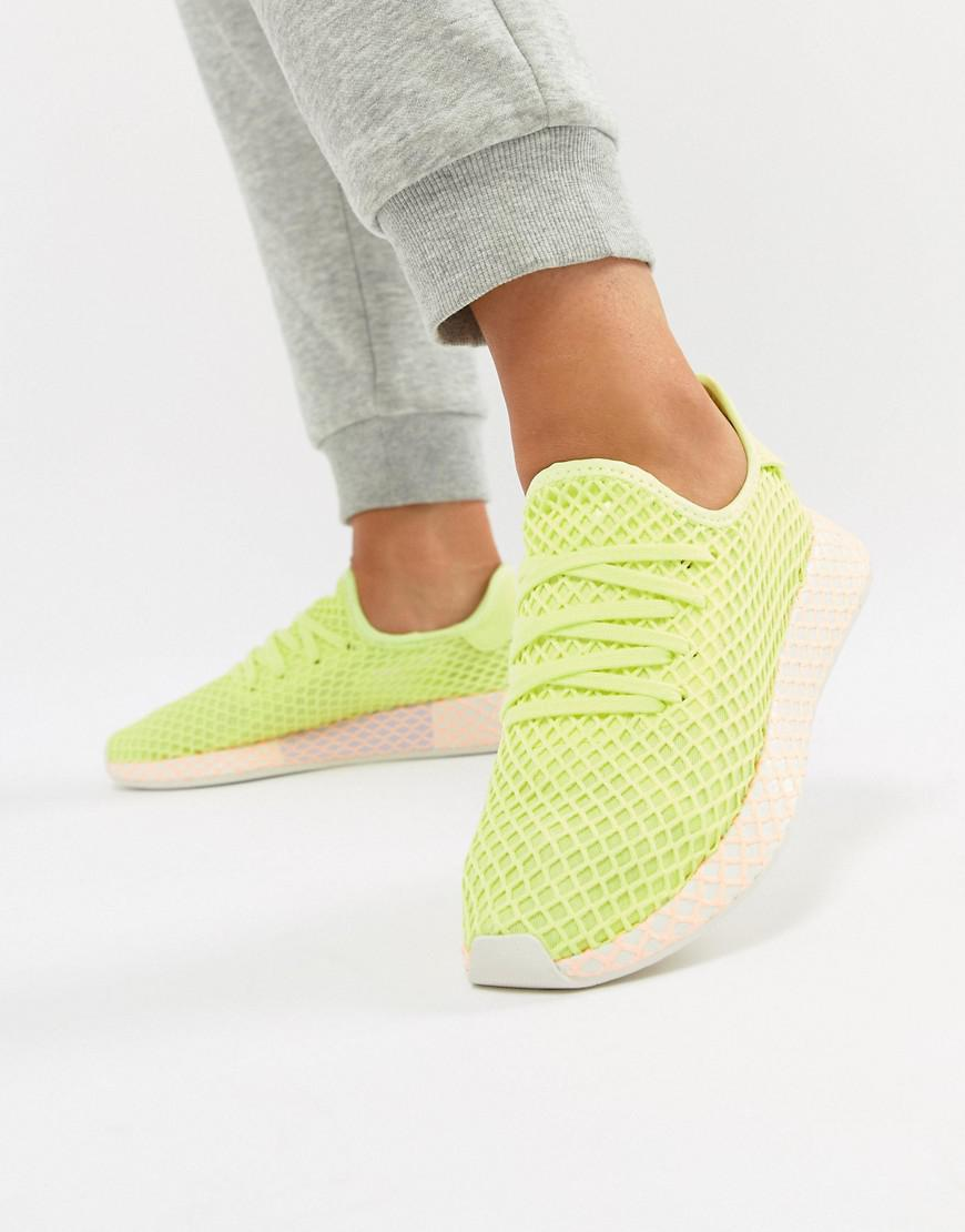 40c03391fe3 Lyst - adidas Originals Deerupt Sneakers In Yellow And Lilac in Yellow
