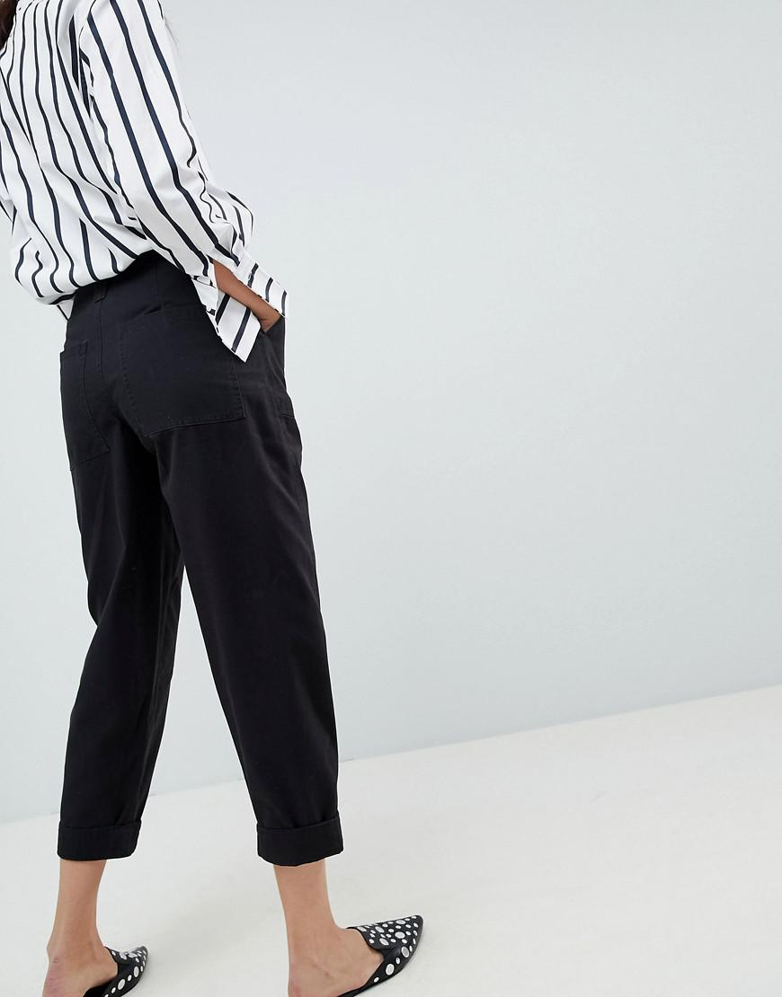 391731298bf6 ASOS Bree Combat Trousers In Washed Black in Black - Lyst