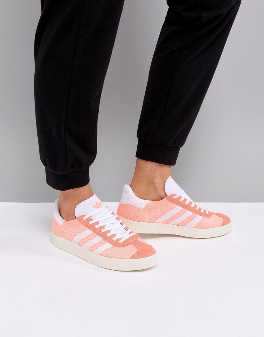 adidas gazelle knit trainers