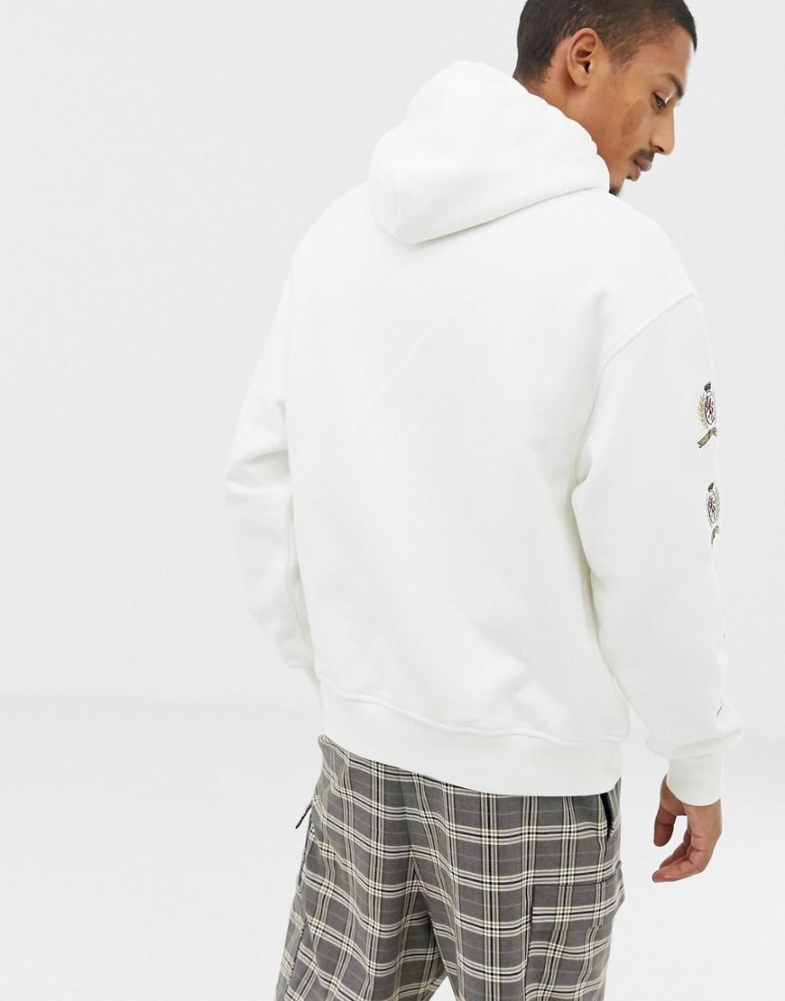 f36278cfcd2c41 Lyst - Tommy Hilfiger 6.0 Limited Capsule Hoodie With Repeat Crest Logo In  White in White for Men