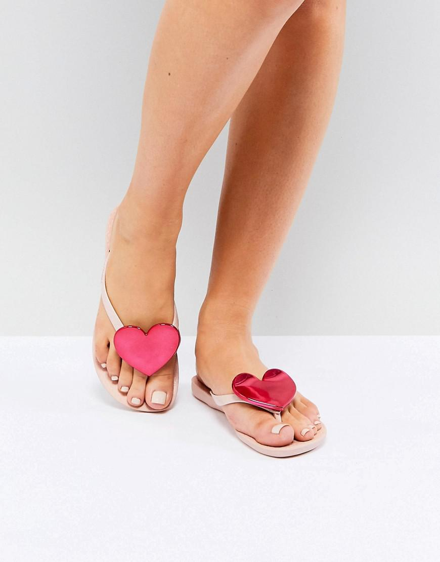 a4a620ca4 Lyst - Ipanema Wave Heart Flip Flops in Pink