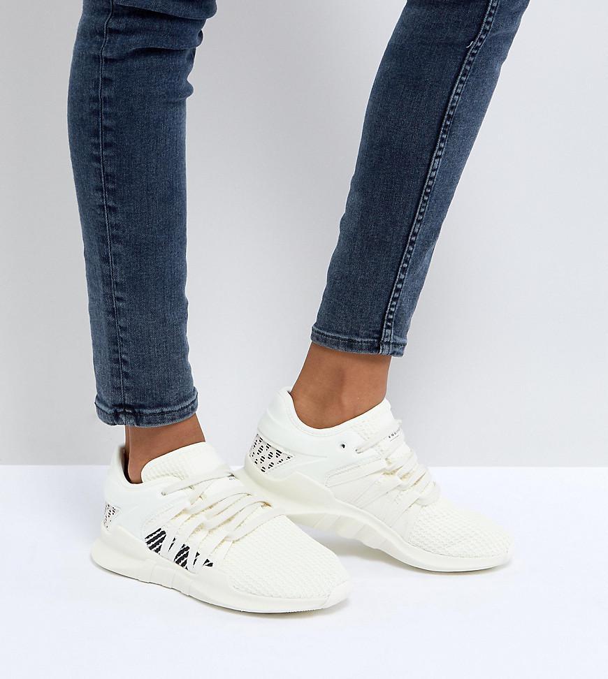 44c62bbcdf63 adidas Originals Eqt Racing Adv Sneakers In Cream - Lyst
