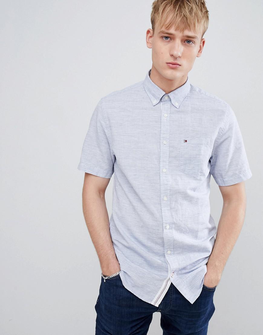 96cc4b1f6 Lyst - Tommy Hilfiger Short Sleeve Slim Fit Shirt Buttondown Icon ...
