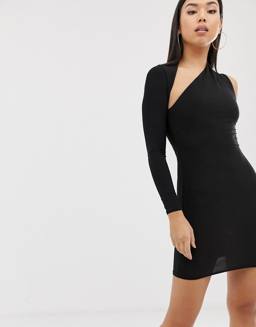 9eaadbf6f01e Lyst - Club L One Shoulder Bodycon Dress In Black in Black