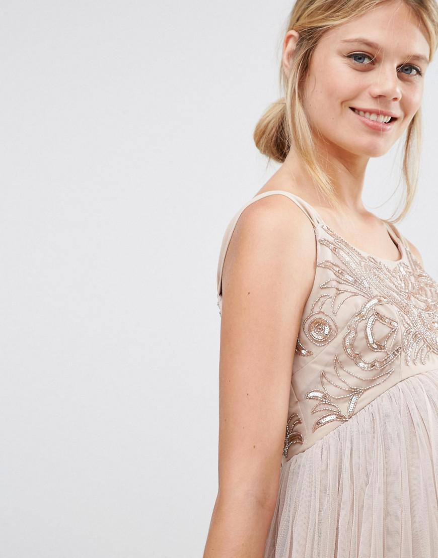 101df69b Maya Maternity Cami Strap Mini Dress With Tulle Skirt And ...