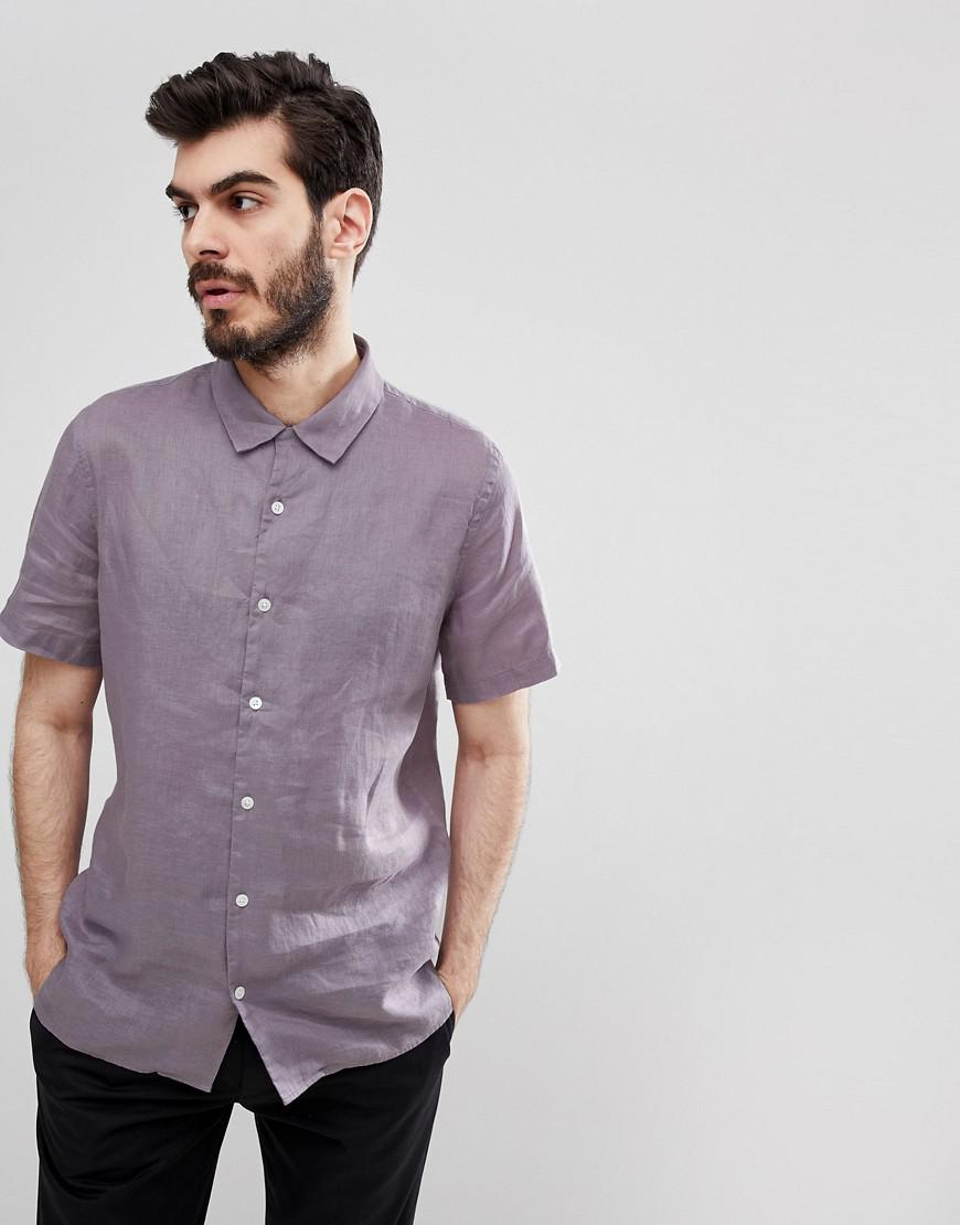 660f0fc0c88 PS by Paul Smith Linen Short Sleeve Shirt In Lilac in Purple for Men ...