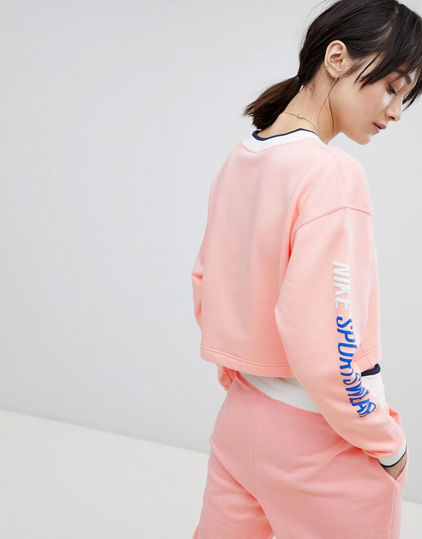 1e9e2ae90ed3 Nike Exclusive To Asos Archive Reversible Logo Sweatshirt in Pink - Lyst