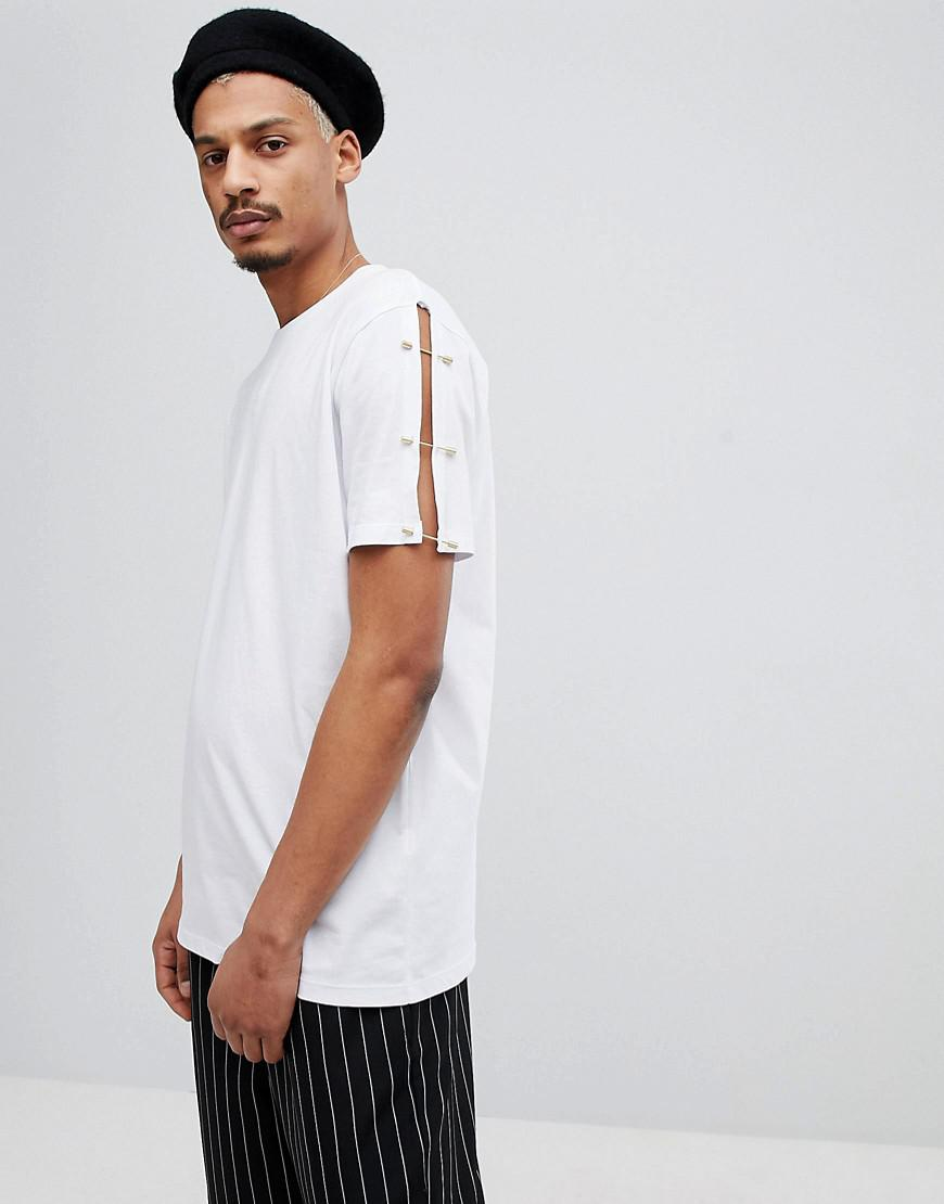 Buy Cheap Prices How Much Cheap Price DESIGN relaxed t-shirt with contrast mesh side panel in grey - Grey Asos Official New Cheap Online Sale Countdown Package q0vtEBhMRR
